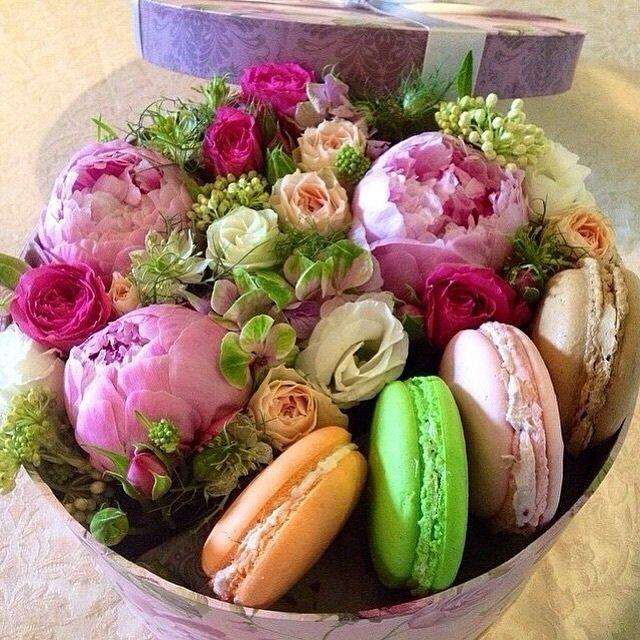 Открытки цветы конфеты