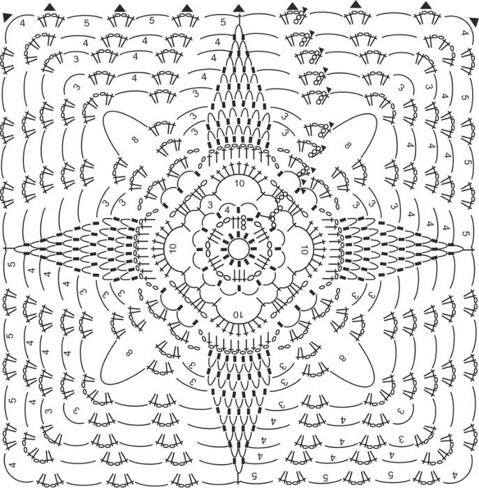 ТОП ИЗ АНАНАСОВ схема общая (686x700, 316Kb)