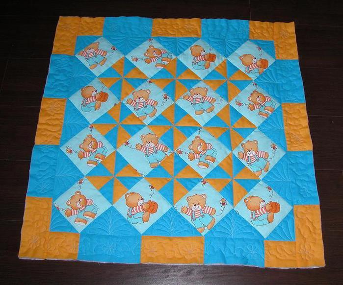 Как сшить детское лоскутное одеяло пошаговая