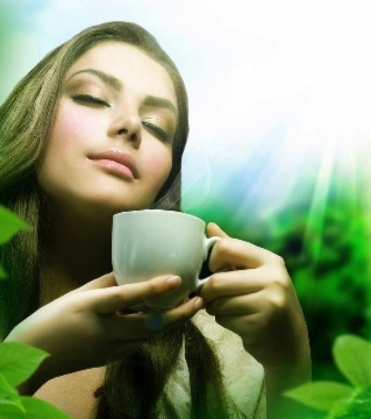 зеленый чай (531x600, 261Kb)