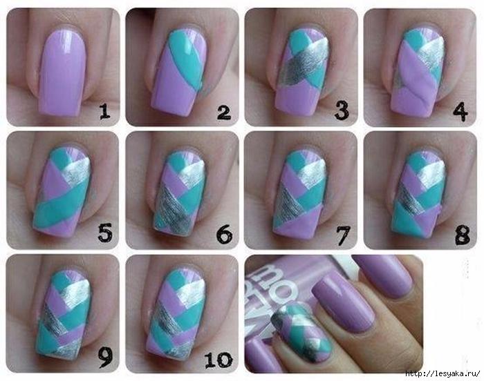 Как сделать рисунок на коротких ногтях