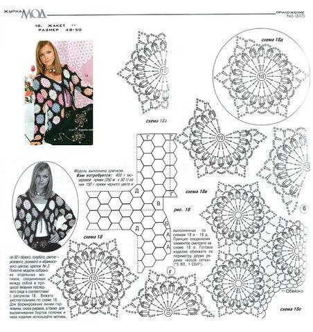 Женские модели из мотивов крючком со схемами