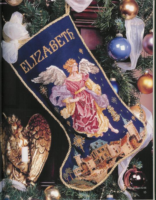 Vermillion Stitchery. Angel Stocking (546x700, 109Kb)