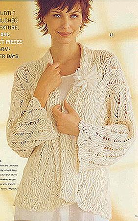 Вязаные свитера и кофты с рисунками и орнаментами - только фотографии.