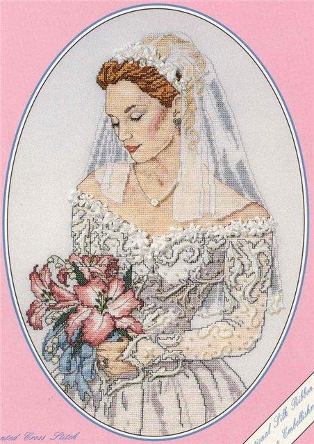 Невеста. Схема вышивки крестом