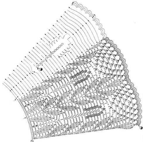 свой цитатник или сообщество!  Схемы для вязания крючком круглой ажурной кокетки. http://kela.ru. источник.