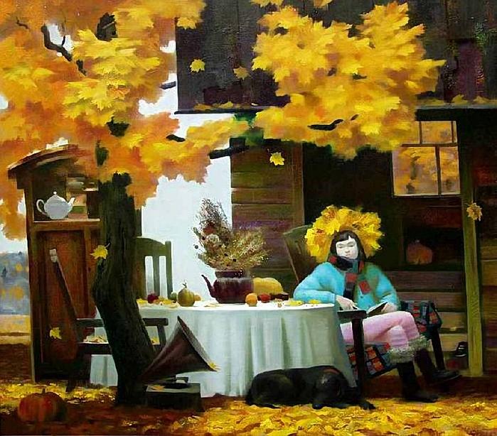 Дм. Петров . Осень (700x614, 367Kb)
