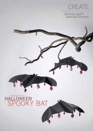 Create your style with swarovski Design project Halloween Spooky bat (300x424, 76Kb)