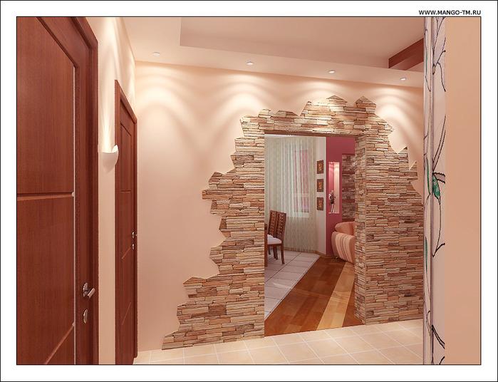 Фото дизайн коридора с камнями