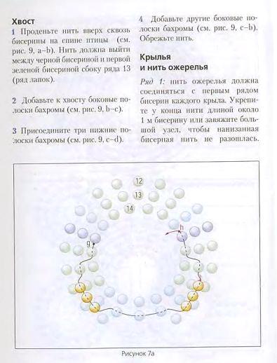 """Источник: книга  """"Стильные штучки из бисера """" (переводное издание, автор не указан). схема.  Колибри.  Метки."""