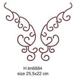 Схема узора для вышивки паетками