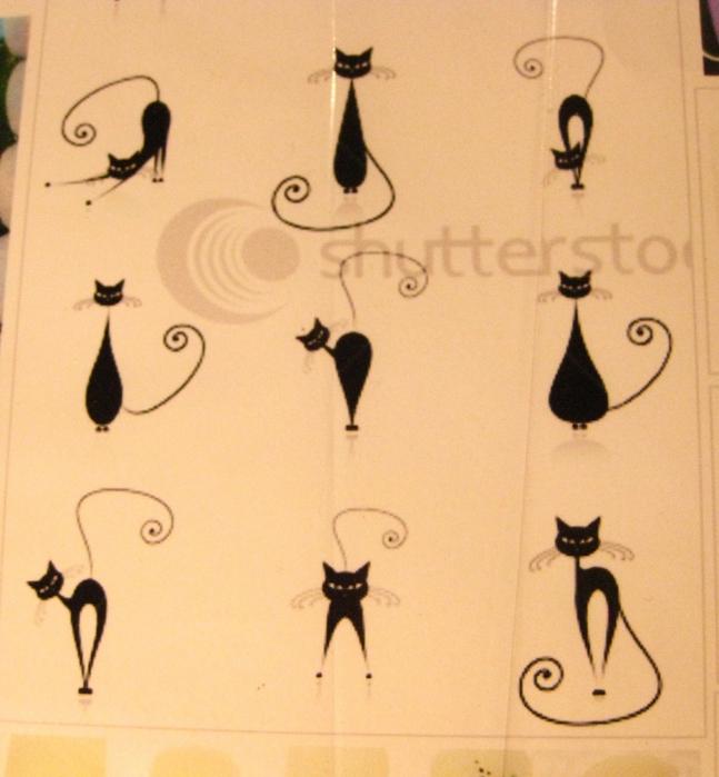 Черная кошка на ногти