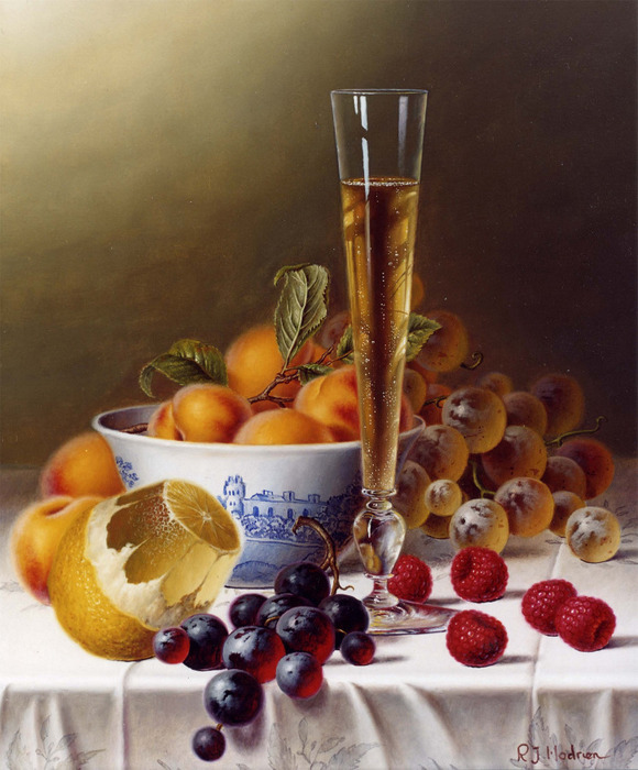 485234Still Life with Champagne & Fruit on a Tablecloth (580x700, 132Kb)