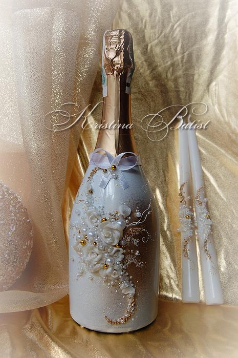 Свадебное шампанское своими руками декупаж