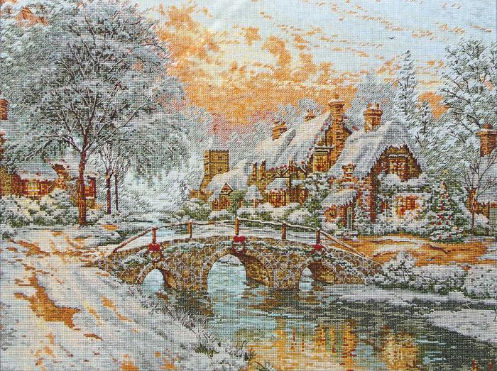 Cobblestone Christmas - pic (700x523, 280Kb)