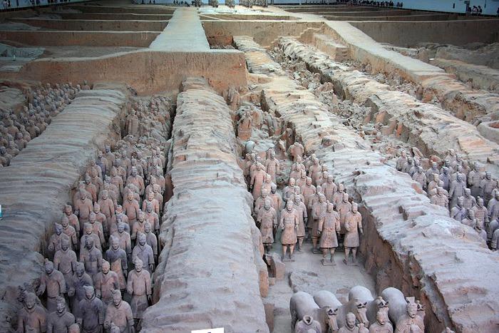 Терракотовая армия первого императора Китая в Сиане 13061