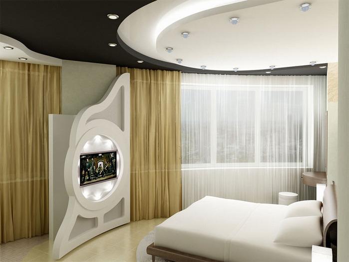Дизайн интерьера спальни фото.