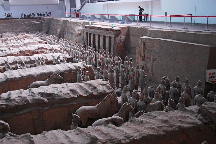 Терракотовая армия первого императора Китая в Сиане 59594