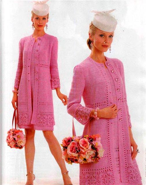 Схема вязанного пальто спицами. Схема женского вязаного жилета. вязание кр