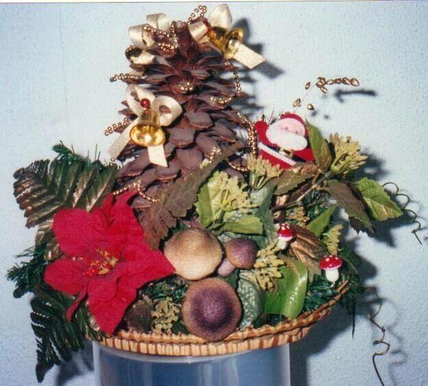Рождественские композиции своими руками мастер класс