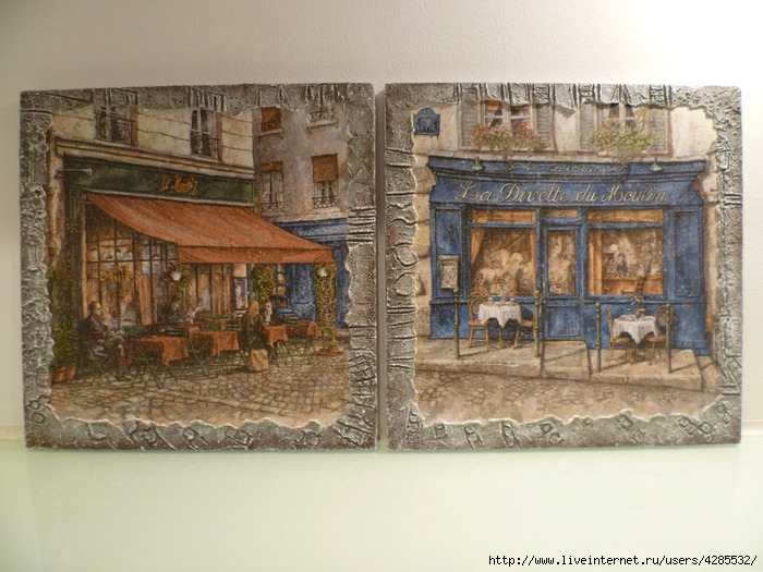 панно На улочках Парижа (700x525, 275Kb)