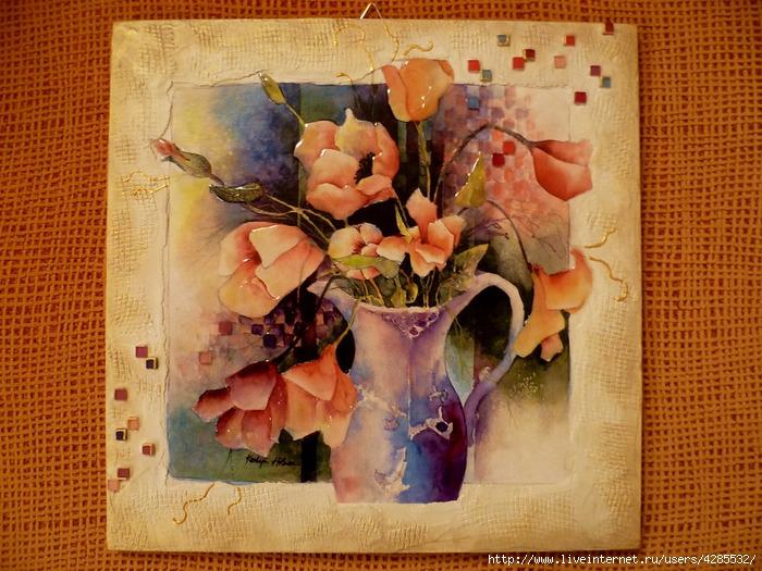 панно цветы в вазе (700x525, 306Kb)