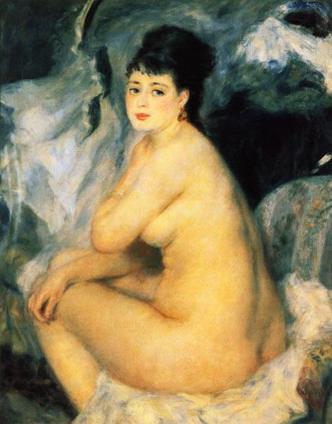 Нагая женщина, сидящая  на кушетке  1876 (470x600, 71Kb)