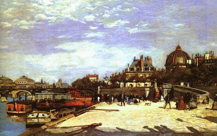 Мост искусств в Париже 1867 (700x439, 107Kb)