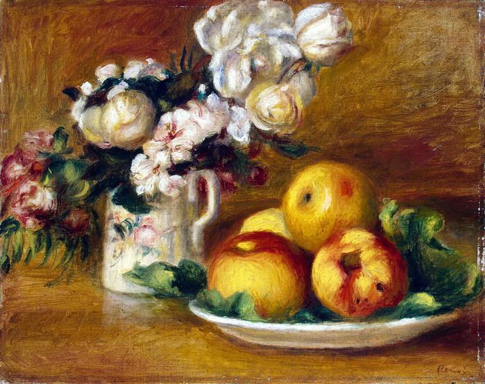 Яблоки и цветы .. (700x553, 171Kb)