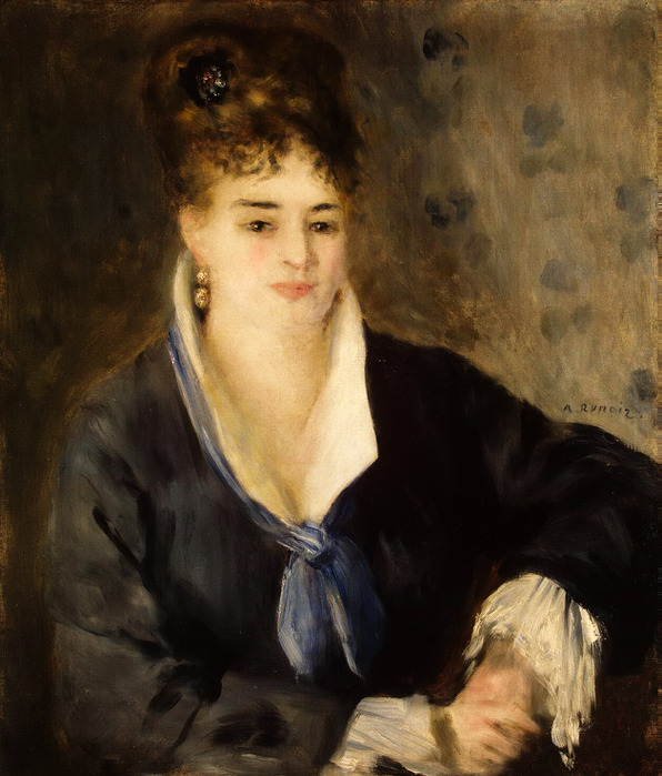 Дама в черном, Эрмитаж (596x700, 114Kb)