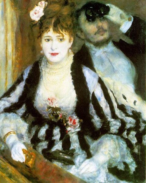 Auguste Renoir, La Loge, 1874 (479x599, 68Kb)