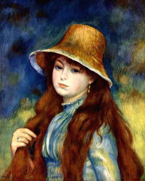 Девочка в соломенной шляпе 1884 (486x604, 73Kb)