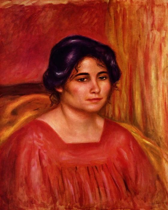 Pierre-Auguste_Renoir  Габриэль в красной блузе (1910). (560x700, 119Kb)