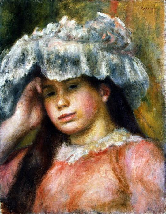 Девушка в шляпе, Эрмитаж (542x700, 185Kb)