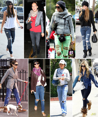 с чем носить джинсы (334x400, 110Kb)