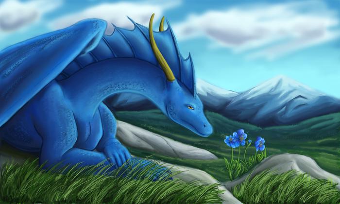 3463295_Blue_Flowers_by_WolfCryi (700x420, 408Kb)