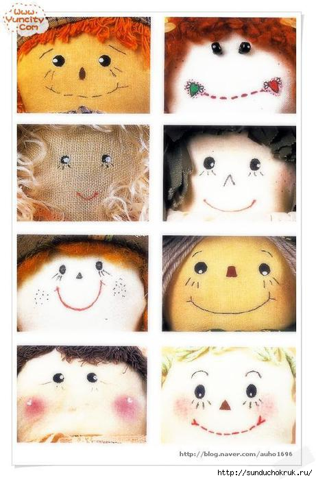 идеи для разрисовки кукольных лиц