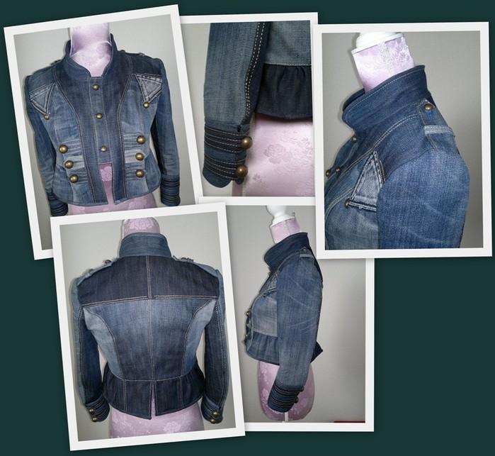 Джинсовая куртка своими руками из старых джинс выкройки