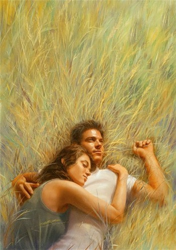 Влюбленные в траве (353x500, 55Kb)