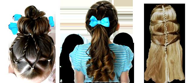 Причёски для внучки (636x276, 243Kb)