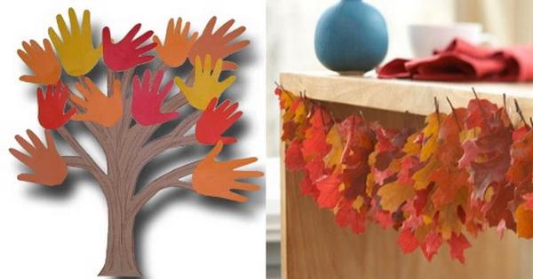 Осенние листочки своими руками фото