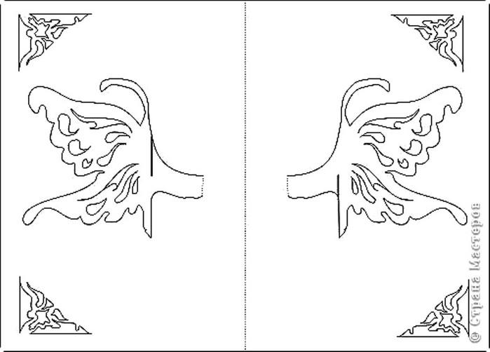 Киригами открытки шаблоны на день рождения 5