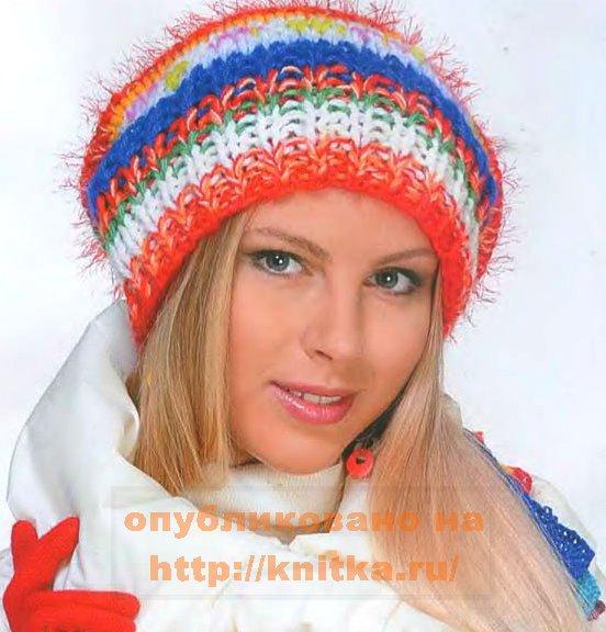 Вязание спицами женских шапок косами с