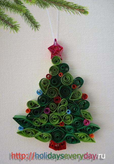 Gallery.ru / Фото #112 - елка из ткани, бумаги, бусин - maniDFVale.