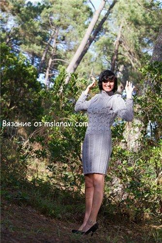 Вязаное платье спицами 500 (334x500, 64Kb)