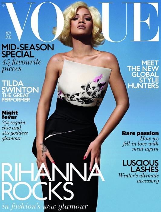 Рианна на обложке Vogue UK November 2011