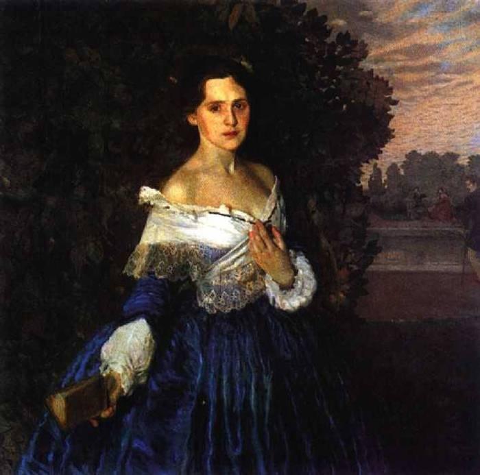 сомов дама в голубом платье (700x693, 47Kb)