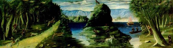 hunting_scene.jpgсцена охоты с видом на море (700x194, 50Kb)