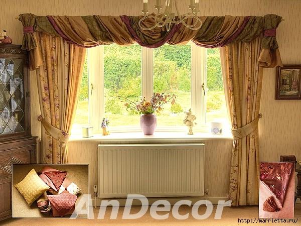 Галстук для шторы своими руками