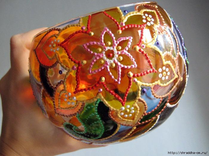 ваза подсвечник  Медовый месяц, автор Shraddha, витраж (10) (700x525, 268Kb)